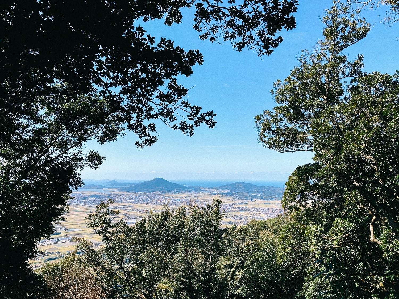高祖山から望む可也山
