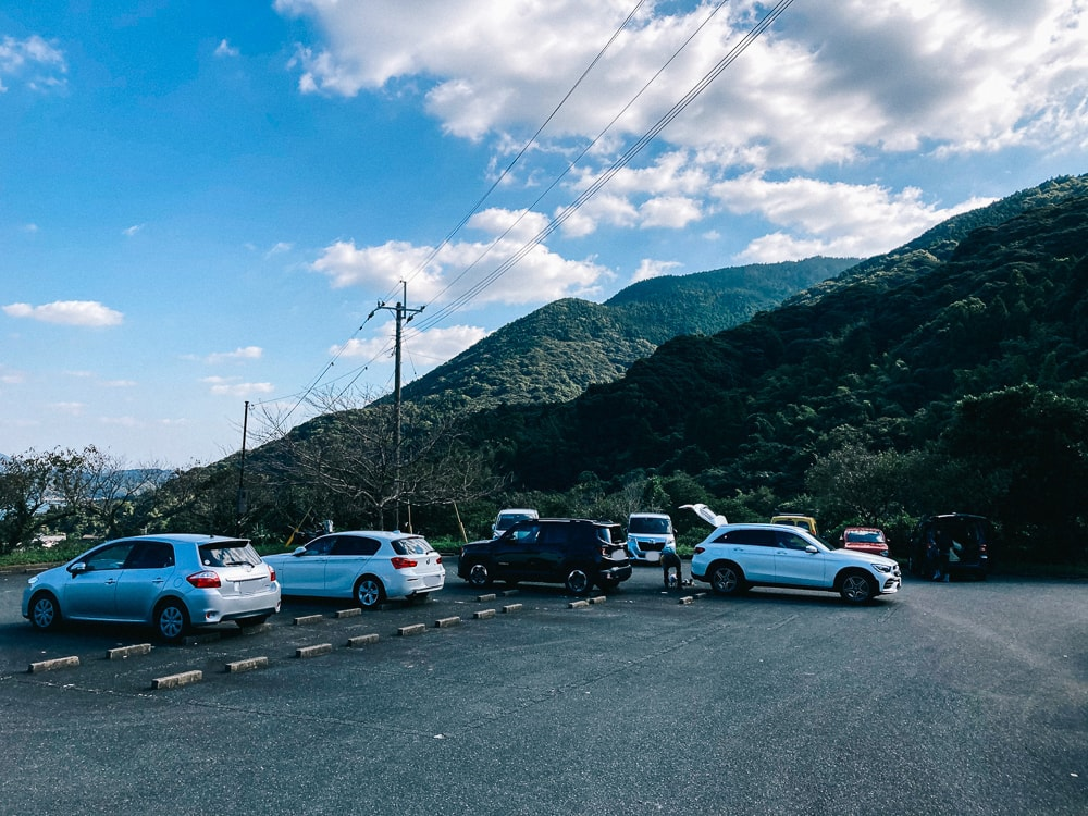 二丈岳の駐車場